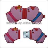 Unique Animal Lovely Pig Design USB Flash Drive,Professional Manufacturer 100% PVC Material USB Memory Customizer Design Gift !!