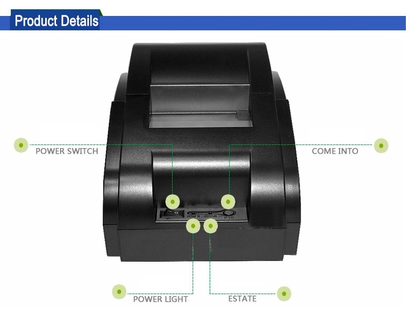 Android Pos Terminal 58mm USB Thermal Receipt Printer for Restaurant