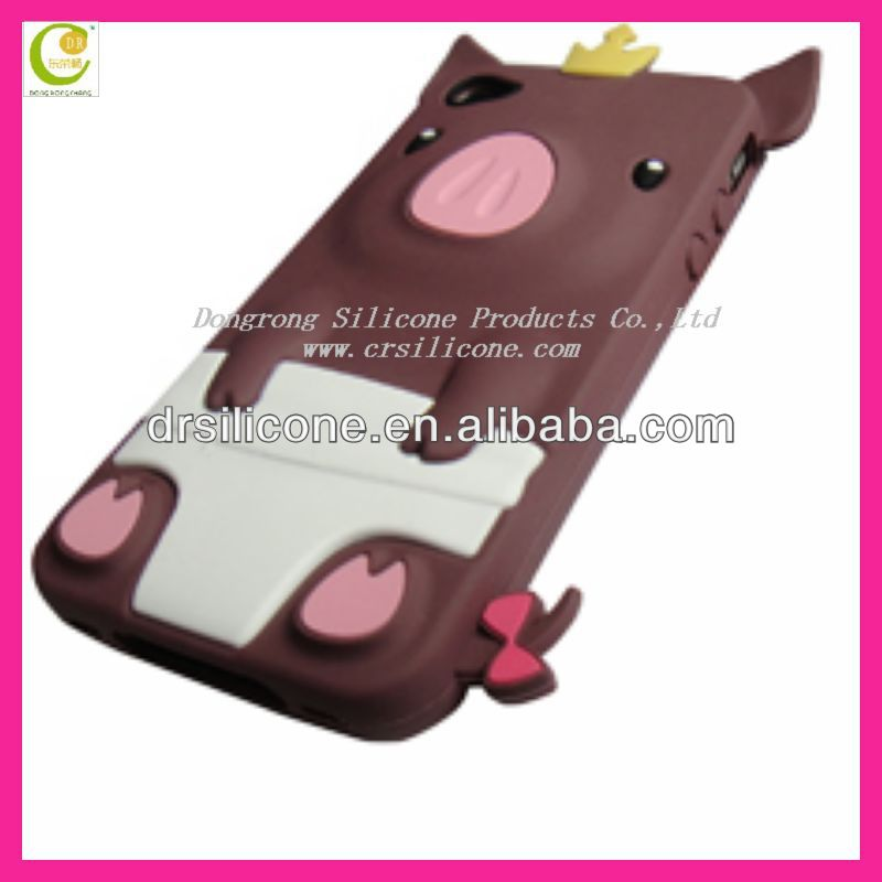 Mesh cambo case silicone +hole hard case For iphone 4 CDMA