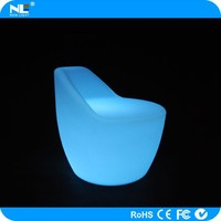 RGB plastic LED illuminated light up bar chair / remote control LED color change sofa