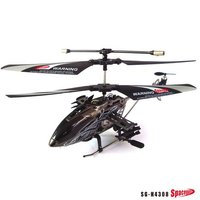 IR control alloy black 4CH metal structure outdoor/indoor RC helicopter with Gyro