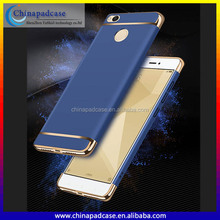 Electroplate 3 in 1 Premium Matte Rubber PC case for Indian Version Redmi 4/Separatable Hard PC back cover case for Redmi 4X