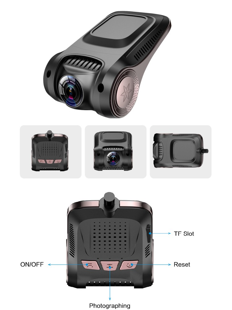 Newest! Best hidden cameras for cars fhd 1080P wireless very very small dash cam