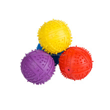 Colorful Natural Rubber Dog Squeaky Ball Toy