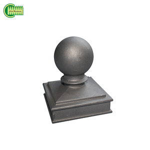 decorative metal aluminum alloy round fence post caps