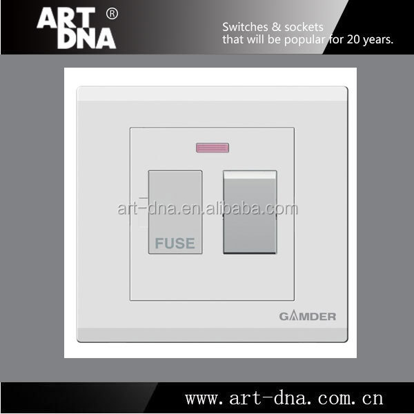 UK Standard E 5A Switched Fused Connection Unit