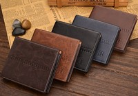 Men wallets famous brand new 2015 male money purses New classic soild pattern designer Soft ID Card Case Leisure wallet