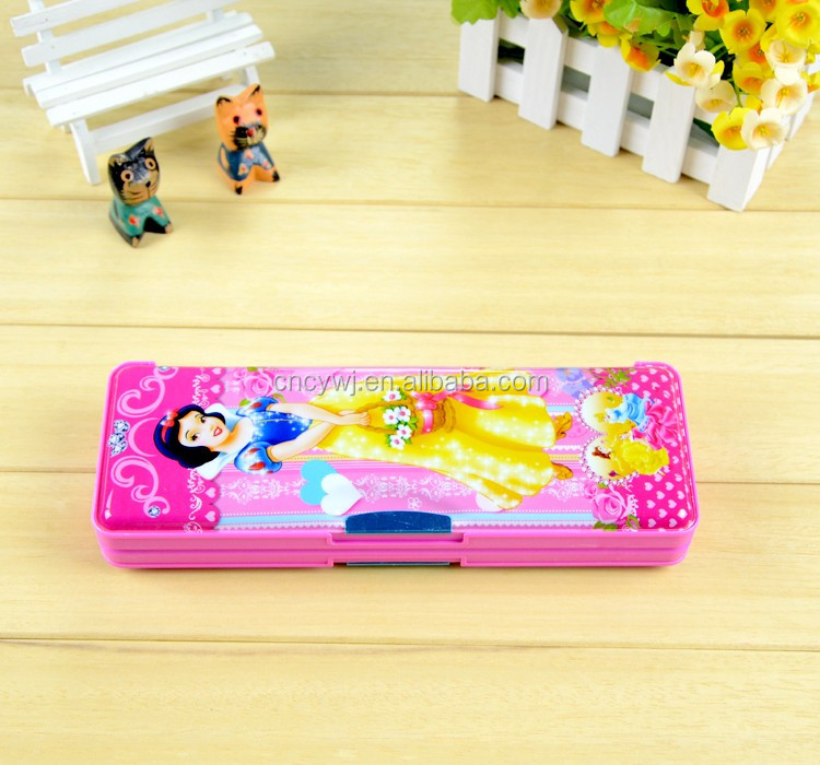 Double Sided PP Cool Hard Pencil Box