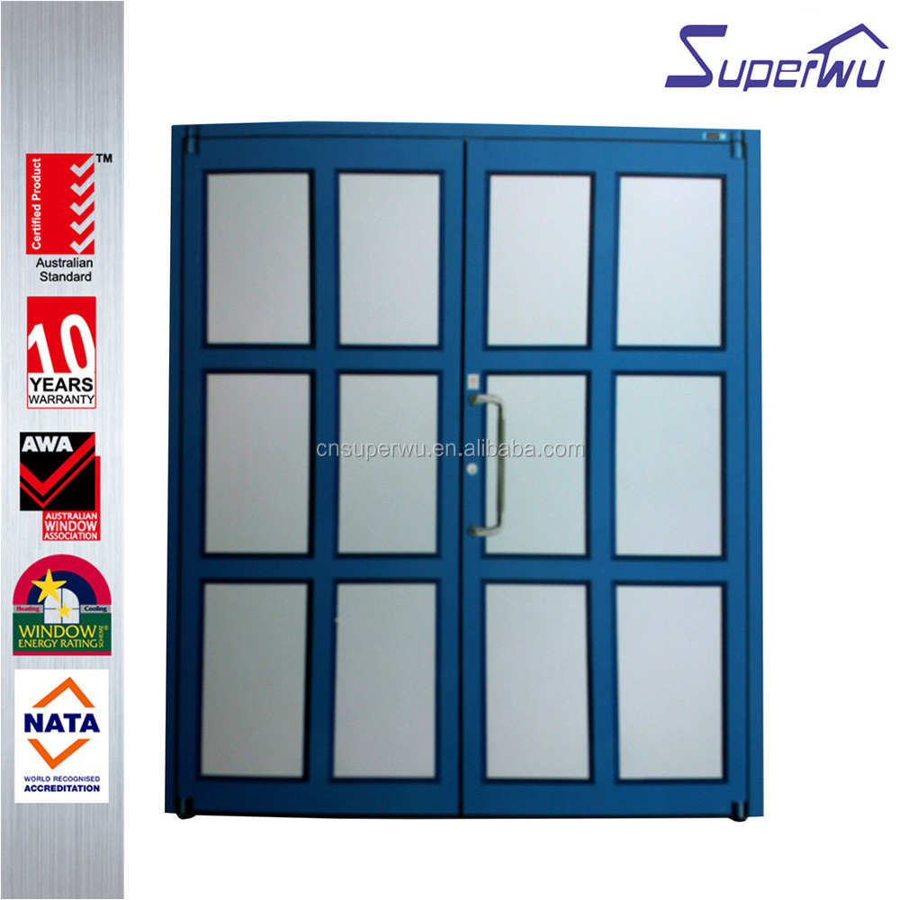 china suppliers aluminum front double door grill design double swing door for commercial