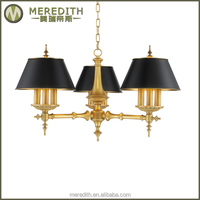 Meredith industrial style iron shade chandelier#4017