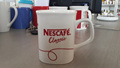 S153- 14 oz white coffee mug with C handle