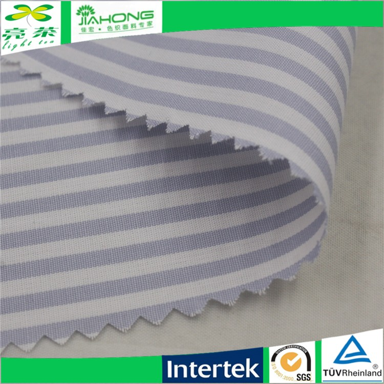 China textile yarn dyed tc striped wrinkle free cotton fabric for shirt