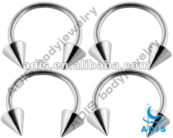 Flower cone circular barbell,body piercing jewelry
