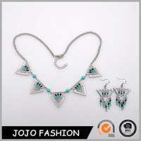 Fashionable design best selling necklace artificial necklace and earring african beads jewelry set