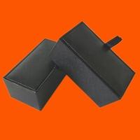 Trade Assurance Custom Wholesale Black Cheap Plastic Cufflink Gift Box