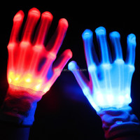 Party and Valentine's Day Occasion led flashing gloves, led finger light gloves,China wholesale led gloves