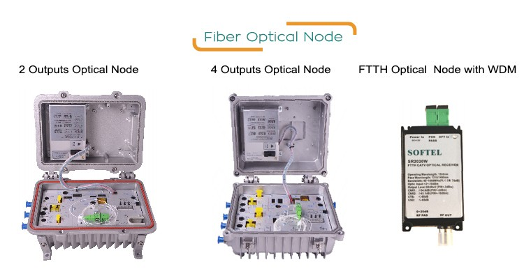 Bi-directional Outdoor Receiver with AGC and Return Path | FTTH Optical Outdoor Receiver