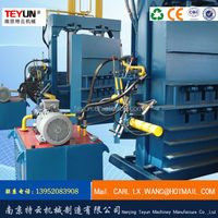 Y82 waste hydraulic automatic vertical baler plastic recycling machine