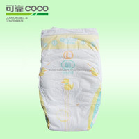 2015 New Wet Indicator Colored Disposable Baby Diaper with Magic Tape