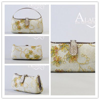 Hot sale products embrodery hard case evening party/wedding bridal bags