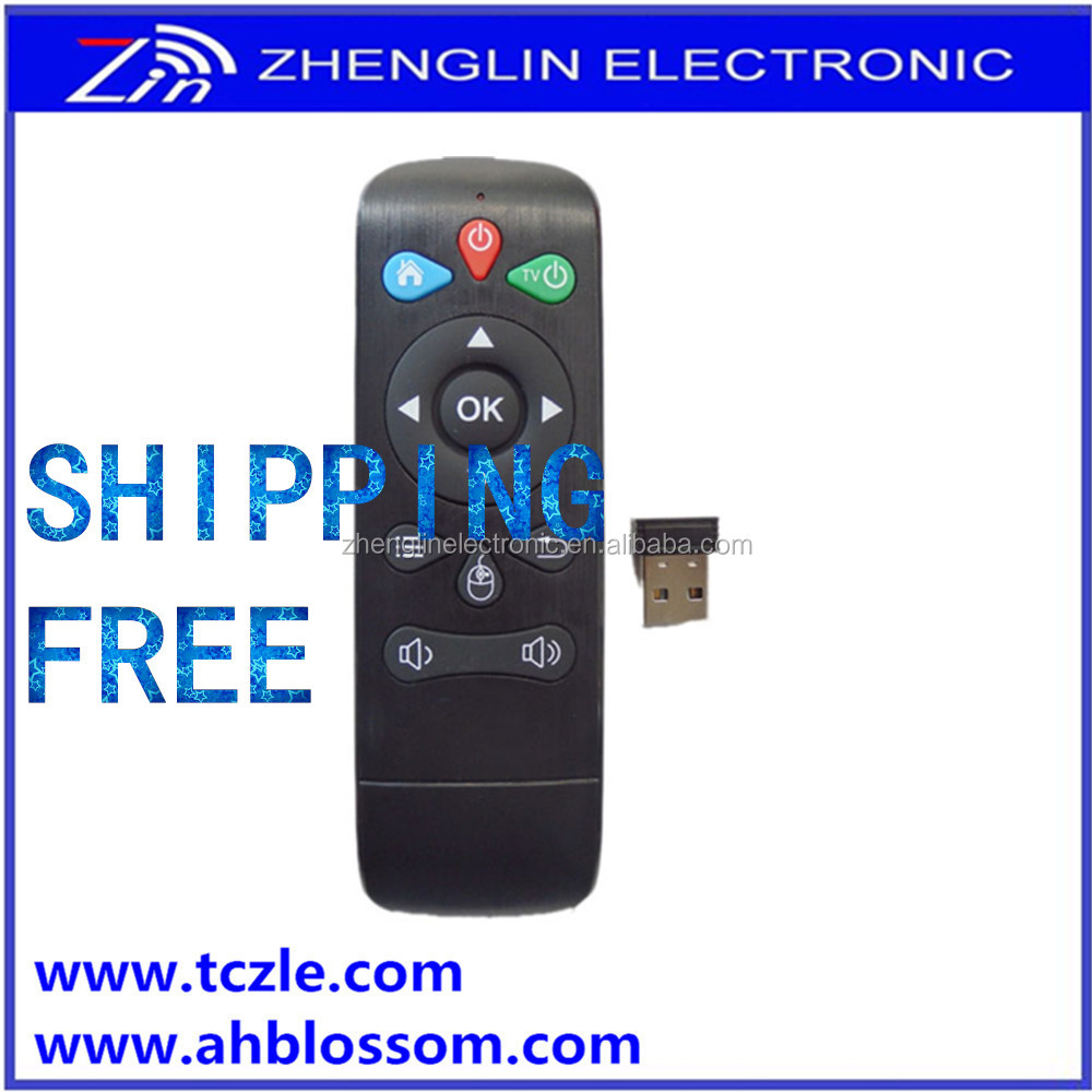 Shipping free 2.4 G wireless remote For smart TV,set-top box with learning function