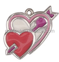 Bulk Cheap Heart Charms, Double Heart Enamel Ornaments