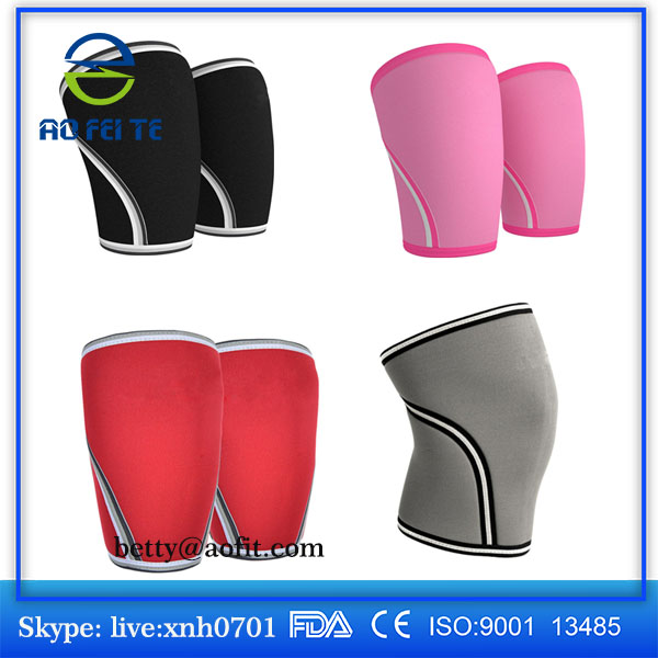 2017 Latest Decompression Neoprene 7mm Knee Sleeve Thermal Insulation Knee Support