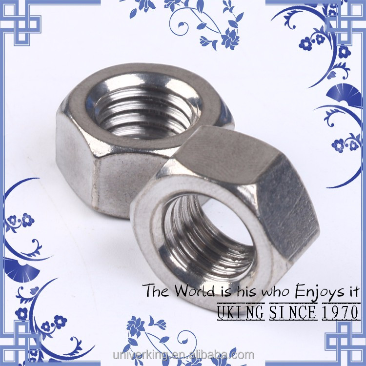Factory direct stainless steel 201 DIN934 <strong>M10</strong> <strong>hex</strong> <strong>nut</strong>