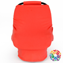 Universal Baby Car Seat Cover Canopy And Nursing Covers Plain Coral Knitted Cotton Car Seat Cover Pattern