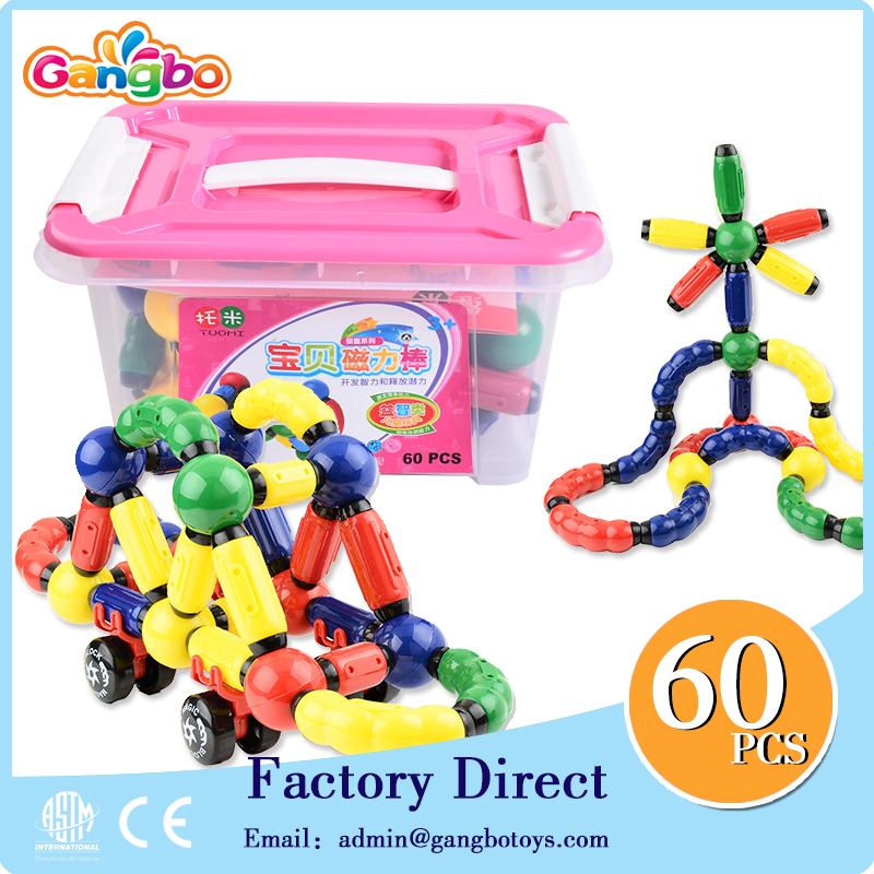 magnet magnetic sticks and balls toys 60pcs