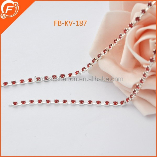 wholesale 3mm bling bling roll rhinestone trimming cup chain