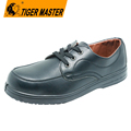 Black microfiber leather composite toe administrative shoes safety for men