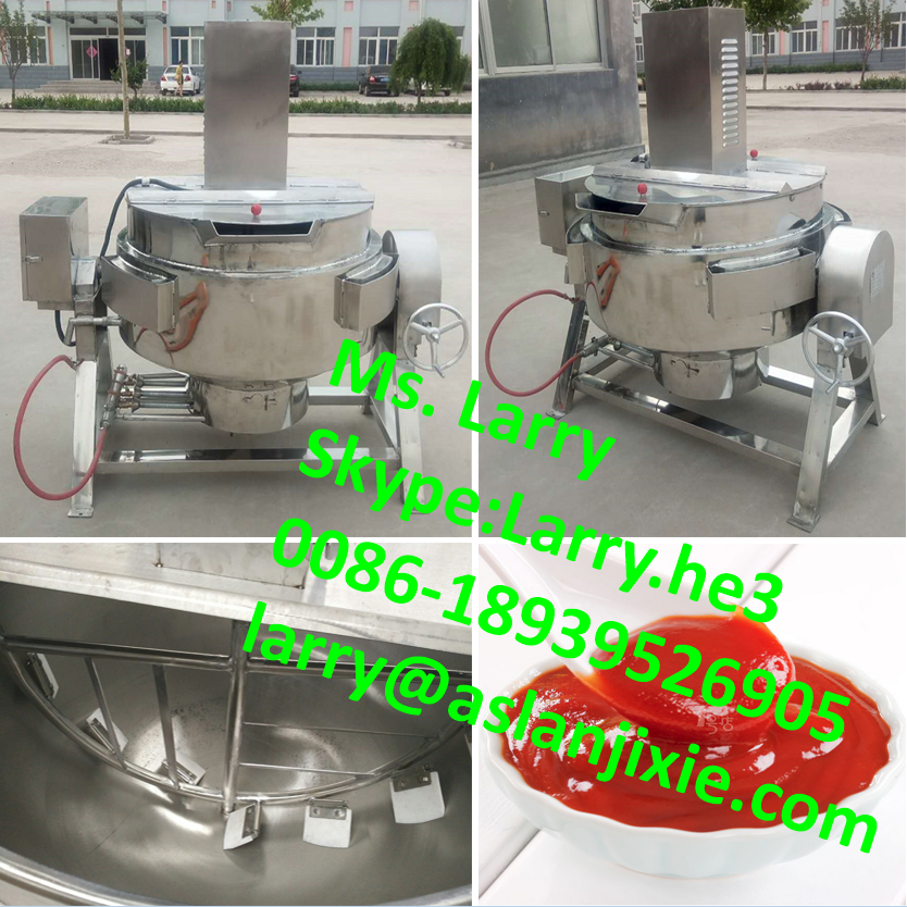 500 liter steam jacketed cooking kettle/industrial cooking kettle with agitator