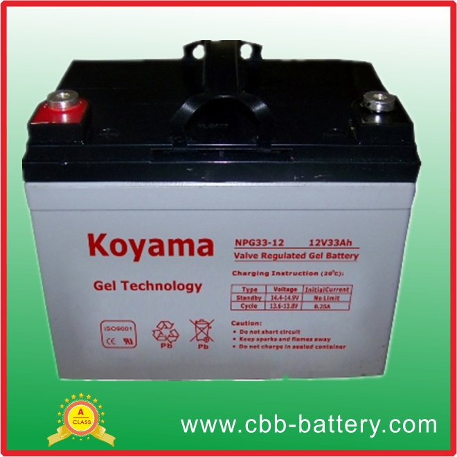 12V 33Ah Gel Battery For Wheelchair
