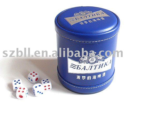 new design blue dice cup high quality but cheap custom dice