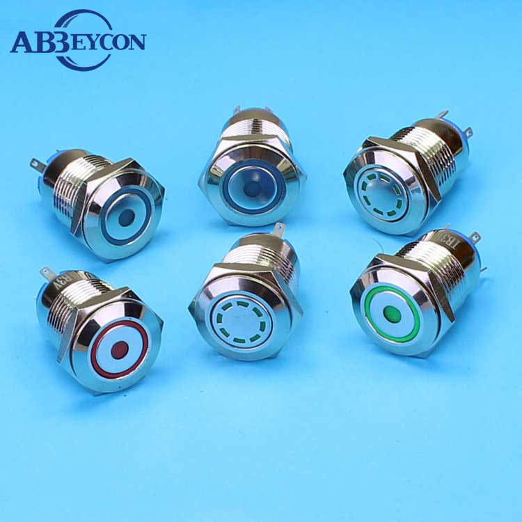 China Manufacturer 16mm Quality illuminated push button switch