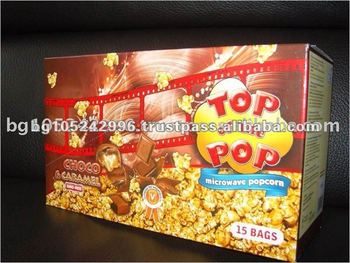 Popular Snack Display Box Sugar Microwave Popcorn