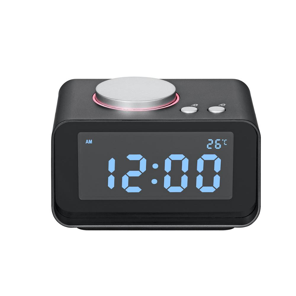 Speaker with FM Radio, Dual Alarm Clock, Time Display, Dual USB Charging Ports for iPhone, iPad, iPod, Samsung, all smart phones