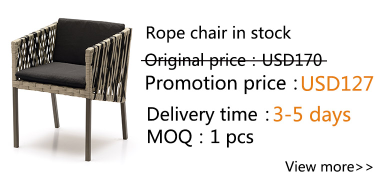 French style luxury contemporary rope woven dining chair
