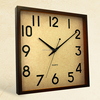 12 inch home goods wall decor square style flip analog clock (12W58BR-215)