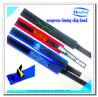 Hook and loop neoprene ankle timing chip strap