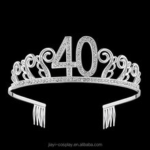 40th Birthday Crystal Tiara Queen Princess Crowns