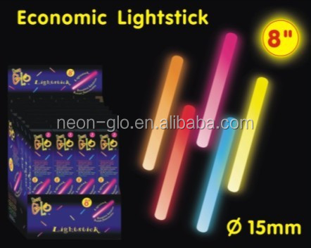 "8"" Economic Lightstick Premium Glow Sticks Manufacturer"