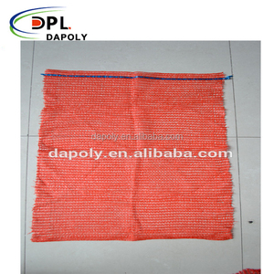 Plastic PE HDPE raschel mesh net bags for potatoes vegetables fruit 50kg