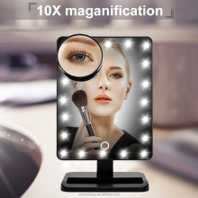 2017 new model Led light make up mirror/Led table mirror with touch control switch