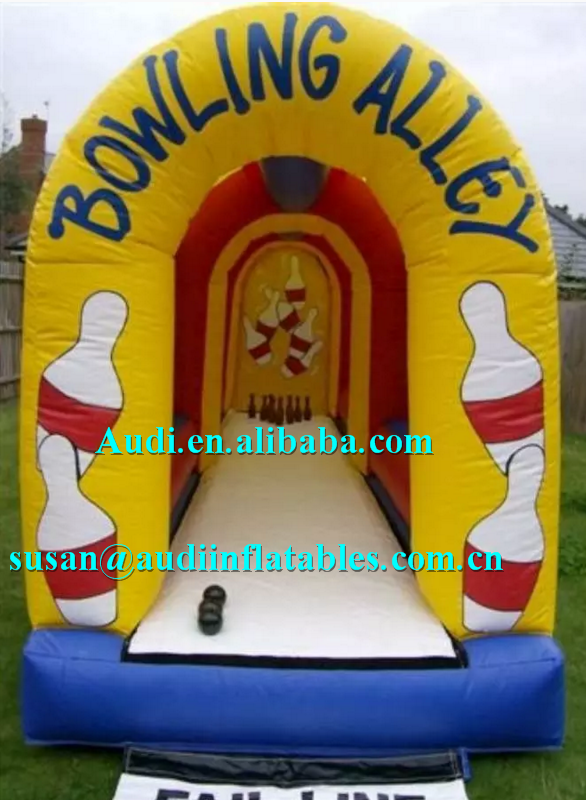Bowling Alley Inflatable Game for garden celebrations of a BBQ ,inflatable bouncer bowling alley