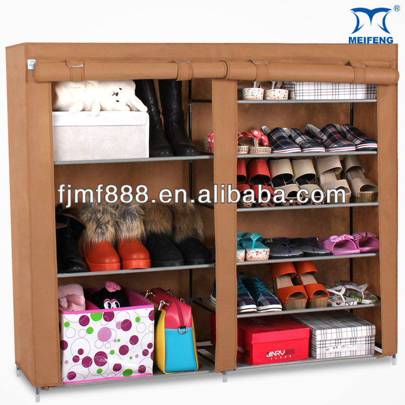 Portable Double Compact Shoe Rack