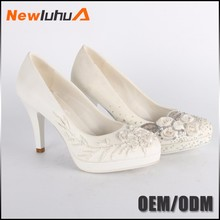 Wholesale OEM comfortable white sexy wedding shoes