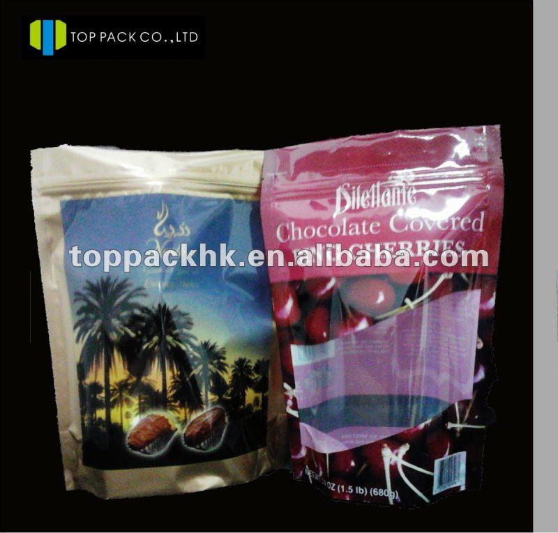 Stand up nut food packaging bags