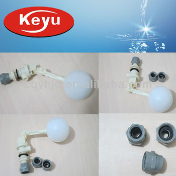 Keyu Water Tank Float Valve With Adapter Fitting
